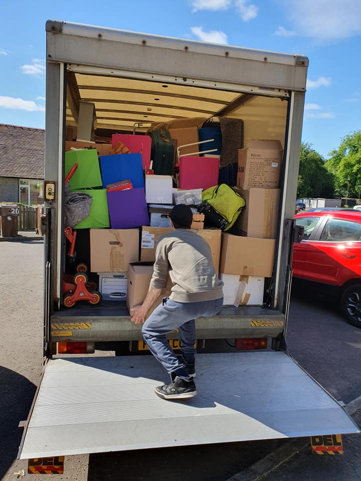 James with a full van removals load